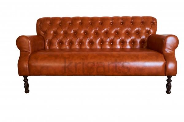 Кожаный диван для ресторана