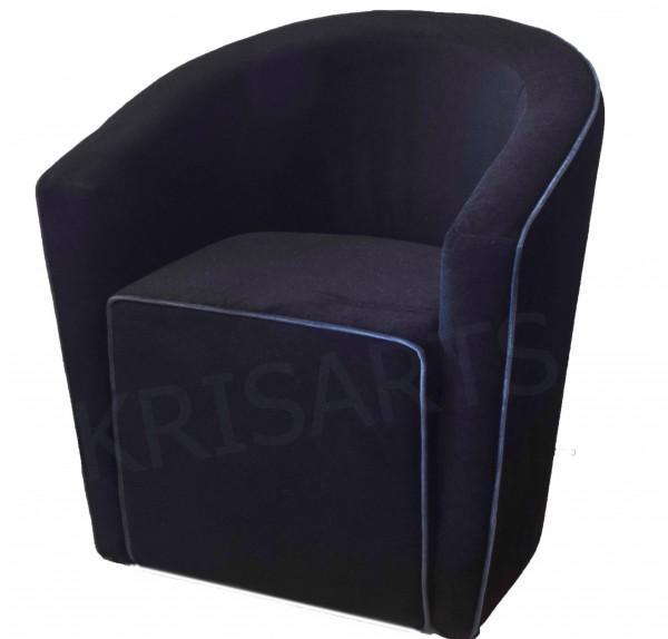 кресло с округлой спинкой